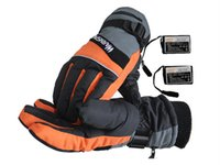 Wholesale Rechargeable Heated Gloves - 2015 Winter 3.7V Electric Heating Gloves With 2000MAH Rechargeable Lithium Battery Heat Gloves For Winter Outdoor