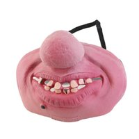 Creep Funny Party Mask Latex Clown Cosplay Half Face Horrível Scary Masks Woman Man Fool'S Fancy Dress Masquerade
