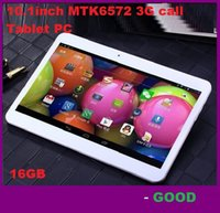 NEW Dual-SIM-10,1-Zoll-Tablet-PC MTK6572 Dual Core 1GB 16GB Android 4.4 WCDMA 3G GSM Phone Call phablet entriegelten 1024 * 600 Dual-Kamera 5pcs