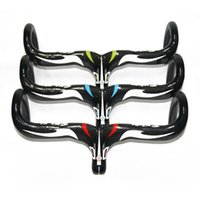 Barato Peças De Haste De Guidão De Bicicleta-Wholesale-RXL SL Full Carbon Fiber Road Bicycle Handlebar integrado com haste Carbon Road Handlebar Bike Parts