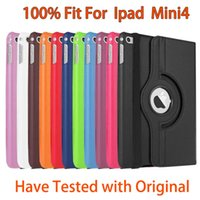 Para ipad mini4 mini 4 360 Graus Rolative Flip Smart Folio caso de couro Stand Holder Rolation tampa Litchi Rotary casos 10pcs 30pcs