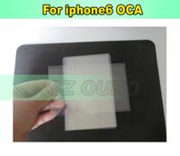 iphone taraflı bant toptan satış-Optik Temizle Yapıştırıcı OCA iPhone 6 Için 4.7 inç iphone 6G Sayısallaştırıcı LCD Dokunmatik Cam Ekran Çift Taraflı Bant Sticker