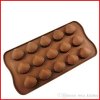 Wholesale Silicone Soap Molds Heart - Creative baking tool silicone molds Chocolate molds heart Shell Stars Spoon Heart Square ice jelly pudding soap mold freeshipping
