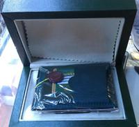 schweizer damen sportuhren marken großhandel-Hochwertige Schweizer Original Box Papier Damen Luxus Top Marke Herren Armbanduhr Für Rolex Uhrenboxen Inner Outer Booklet Karte Mann Dame Frau
