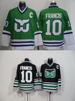 Wholesale Francis M - 2016 New, Ron Francis CCM Vintage Classic Jersey green black #10 Hartford Whalers Jerseys Old Time throwback team Hockey Jerseys