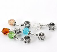 50 Mixed Crystal Dangling Beads Fit Charm Bracelet 27x8mmFine Jewelry Findings Diy Accesorios Cuentas Cuentas Baratas