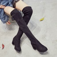 NEW WINTER Mode Femmes Chaussures Cuisse-haute Martin boot Femmes wedge Sneakers Casual Sport Slipsole Chaussures Femmes genou Bottes