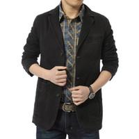 Wholesale Velvet Blazer Sale - Wholesale-2016 new man suit Hot Sale Men's Velvet Blazer Fit Corduroy Casual Suit Jacket Patchwork Fashion Blazers Men Plus