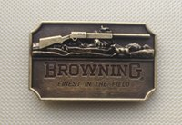 Wholesale fine finishing - Browning Finest In The Field belt buckle with pewter finish SW-BY106 suitable for 4cm wideth belt with continous stock