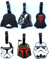 Wholesale 12 Designs Luggage Tags Star Wars Darth vader Travel Silicone Checked Box Tag Suitcase Baggage Bag ID Tag Holder Handbag Tag B258