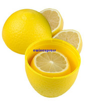 Wholesale Kitchen Fruit Vegetable Storage - New Eco-friendly Vegetables & Fruits Storage Saver Containers box Lemon Design keep fresh in fridge Kitchen tools Gadgets