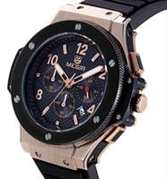 data de relógio de luxo de mergulhador venda por atacado-Megir mens relógios top marca de luxo relógio de mergulho militar homens moda impermeável relógio de quartzo de silicone data automática relógio de pulso