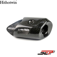 Wholesale Muffler Heat Shields - SEP Motorcycle Carbon Fiber Muffler Cover Exhaust Pipe Cover Heat Shield For Yamaha MT07 FZ07 MT-07 FZ-07 MT FZ 07 2014-2017