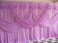 Wholesale Lavender Table Cloths - New 2016 Fashion lavender Wedding Backdrop with Beatiful Swag Wedding Drape and Curtain for Wedding Decoration