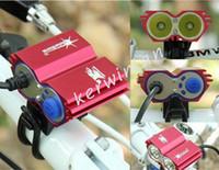 fahrrad-licht-kits großhandel-Solarstorm 2 * CREE XML U2 LED Fahrrad Licht Scheinwerfer Scheinwerfer Kit 4 Schalter Modi Outdoor-Blitzlichter mit Ladegerät und Akku