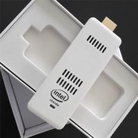 wifi portátil para pc al por mayor-2015 nuevo mini PC Intel Windows 10 OS Computer Mini PC palillo HDMI WiFi Bluetooth del ordenador palillo portable del bolsillo PC 2GB / 32GB