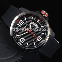 Wholesale Men Watches Curren - 2017 Sport Man Watch Big Hours with Auto Date Male Quartz Watch Curren Rubber Black Wriswatch military watches gifts Accessories Big dial