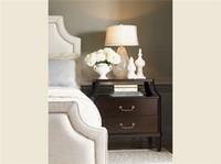 mobiliário quarto europeu venda por atacado-Após pp americano país europeu minimalista mobília do quarto moderno, personalizado de madeira maciça armário de cabeceira Aparador lx