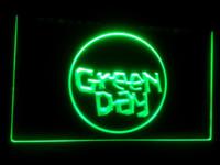 cerveja levou sinal de exibição venda por atacado-exposição verde do sinal da luz de néon do sinal do diodo emissor de luz da cor do bar 7 da cor do bar da cerveja do dia b-111