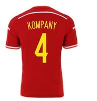 Wholesale Cheap Wholesale Athletic Apparel - 2015-16 Belgium #4 Kompany Home Soccer Jerseys,Thai Quality Customized Cheap Athletic & Outdoor Apparel Football Wear from yakuda's Store
