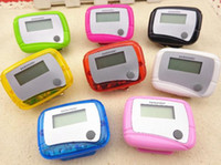 Wholesale lcd run step pedometer - Pocket LCD Pedometer Mini Single Function Pedometer Step Counter Health Use Counter Jogging Running