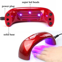 Wholesale Order 9w Led Bulb - 9W Red Nail Dryer UV Lamp AC100~240V Gel Curing Nail Art with 3pcs LED UV Bulbs with Retailing Box order<$18no track