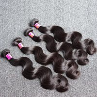 Wholesale Mix Length Weaves - 7A Brazilian Human Hair Extensions 8~30 inch Mix Length 4pcs Lot Brazilian Body Wave Wavy Hair Weft Soft Dyeable Human Hair Weaves