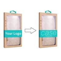 pacotes de silicone venda por atacado-Atacado Personalizado Logo Retail Embalagem Caixa de Embalagem de Papel Karft Caixa para o iphone 8 Xs max samsung s10 para o telefone case capa