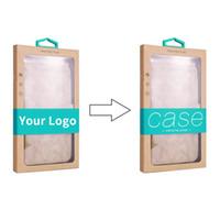 ingrosso imballaggio personalizzato della cassa del telefono-Scatola d'imballaggio di carta di Karft di vendita al dettaglio di logo su ordinazione all'ingrosso per iPhone 8 XS MAX Samsung S10 per la copertura della cassa del telefono