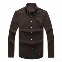 Großhandel billig herbst und winter herren langärmelige dress shirt reiner männer casual polo hemd oxford shirt social marke clothing