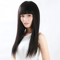 perruques vietnamiennes achat en gros de-Full Lace Wig Meilleur cheveux non transformés 100% vietnamien sans colle avec des cheveux de bébé full Lace cheveux humains crochet de soie tresses perruques tisser kabell