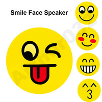 Lovely Cartoon Stereo Bluetooth Speaker Wireless Emoji Portable Subwoofer Smile Faces Mp3 Music Player TF Card Voz Controle Registo de Natal