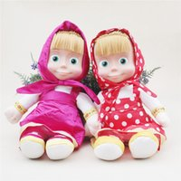 Wholesale Song Electronics - Promotion! Italian Language Masha And the Bear Dolls Electronic Toys Musical Doll With Italy Masha e Orso Cartoon Song For Gift