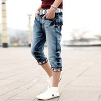 Wholesale Jeans Factory Men - 2016 Spring summer jeans male men's jeans capris denim capris denim male Factory Price Free shipping