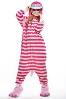 взрослая женская мультипликация оптовых-Последний взрослый полосатый пижамы милый женский мультфильм кусок пижамы спортивный костюм розовый Чеширский кот косплей кусок пижамы