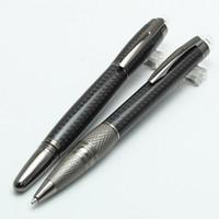 marka kalem satışı toptan satış-Lüks siyah reçine Monte rulo tükenmez kalem moda kırtasiye okul ofis malzemeleri satış için yazma marka kalem