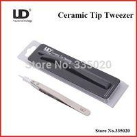 Wholesale E Cigrettes - Wholesale-Youde Ceramic Tip Tweezer Heat Resistant Stainless Steel Tweezers for E-Cigrettes