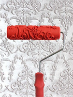paint roller texture - Wall decoration Paint tool Wall Texture Roller Flower Mould Liquid Wall Paper Patterned Paint Roller T