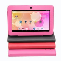 "Wholesale Google Cheapest Tablets - Wholesale-Q8 Low price 7"" Tablet PC Android 4.4 Google A33 QUAD CORE 512MB-8GB Bluetooth WiFi cheapest Tablet PC Support Holster"