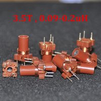Wholesale Inductor Ferrite - 10pcs Adjustable Inductor 0.09uh 0.20uh 90nH 200nH 3.5 Turns High Frequency Variable Ferrite Core Inductor coil 3.5T 25-100MHZ