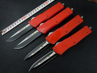 Wholesale Microtech Red - Microtech combat troodon Tactical Knife ,Aluminum Red Handle ,double single edge,Serrated,4 styles of blade