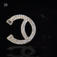 Wholesale 14k Pin Brooch - Hot Rhinestone Crystal Brand Designer Brooch Pins Lucury Women Ladies Brotheroch Lapel Pin Jewelry Gift Accessories