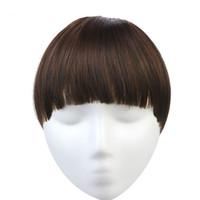 Wholesale Clip Fringe Bangs - Clip In Blunt Bangs Extension Heat Resist Synthetic High Temperature Fiber Fringe 10 colors Availables