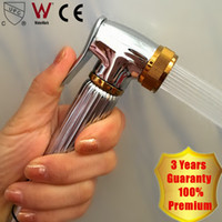 Wholesale Brass Hand Bidet - Royal Luxurious Hand Bidet Spray 2016 Wholesale Solid Brass Muslim Shower Portable Diaper Sprayer Shattaf with Gold Accent