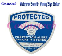 Wholesale Security Signs Warning - 5 PCS Decals Waterproof alarm Sticker Warning Sign Security Surveillance CCTV camera DVR Anti-theft alarm Warning Sign Sticker