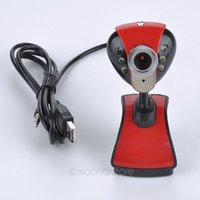USB 2.0 50.0M 6 LED PC Camera HD webcam della macchina fotografica Web Cam con il MIC per computer PC portatile DNPJ0013