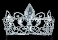 """Wholesale Medieval Crowns - Wholesale-Free Shipping Wholesale Men's Pageant Tall 4"""" Tiara Full Circle Round Imperial Medieval Homecoming King Crown CT1692"""