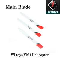 wltoys v931 оптовых-Новый оригинальный WLToys высокое качество главного лезвия AS350 часть для WLToys V931 6ch RC вертолет заказать $ 18no трек