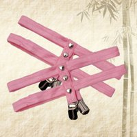 Wholesale Harness Rivets - Pink New pastel goth Garters Harajuku Heart rivet garter belt body harness prom Duckbill clip dresses stockings leg garter