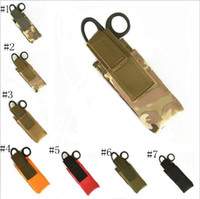Wholesale Types Pc Case - Outdoor Spinning Type Tourniquet Bags Small Tactical Flashlight Scissors Bag Medical Accessories Pouch Cases 50 PCS YYA928